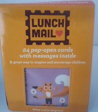 Encouraging Messages Lunch Box Note Cards Kids Mail Pop Open greeting cards NIB