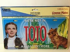 The Wizard Of Oz TOTO We're Not In Kansas Anymore New License Plate Dorothy Toto