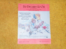 Do Dreams Go On (MORRICONE) sheet music from film THE RED TENT '71 4 pages (VG)
