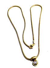 Schöner Goldanhänger mit Diamant + Goldkette 585er Gold Anhänger 14 kt GG