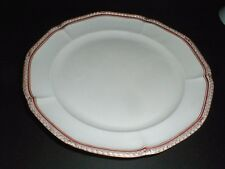 Nymphenburg Gold Laurel, Thin Red Band, Scalloped #NYM9 Dinner Plate (loc-K12)