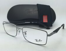 New RAY-BAN Rx-able Eyeglasses RB 6284 2502 55-17 Silver Frame w/ Clear Lenses
