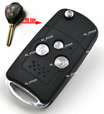 3 Buttons Flip Key Case Housing Replacement Shell For Toyota 4Runner Matrix RAV4