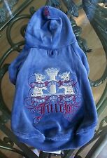 XS Juicy Couture Lady G Velour Doggie dog puppy hoodie 100% AUTHENTIC! XSmall