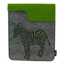 Zebra Felt iPad / Tablet or Gadget  Case / Sleeve Wild Animal Designer Pouch