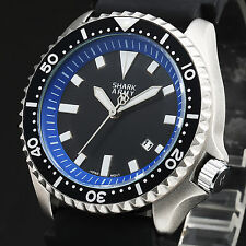 SHARK ARMY MK46 Blue Date Silicone Military Outdoor Sport Men's Wrist Watch
