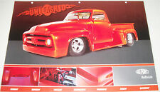 1954 Ford F100 Pickup truck print  (modified,red)