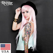 RockStar Wigs®  Ombre Alexa™ Collection - Pink to White Fade -00202