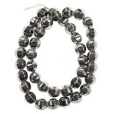 HEALING HEMATITE 10MM FACETED OVAL BEAD AA+ BEADS