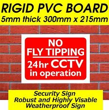 NO FLY TIPPING SIGN SECURITY SIGN FOR  - SHOP SIGNS,BUSINESS SIGNS,FARM SIGNS