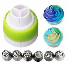 Color Cream Icing Piping Bag Tools Nozzle Converter Coupler  Cake Decorating