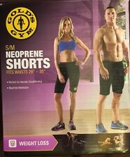 Golds Gym Neoprene Shorts Small/Medium S/M, Black, Cycling Slimming Lose Weight