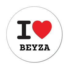 I love BEYZA - Aufkleber Sticker Decal - 6cm
