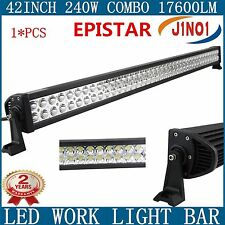 "240W 42INCH LED Light Bar SPOT FLOOD Combo Offroad Truck ATV 4WD Boat SUV 40"" J1"