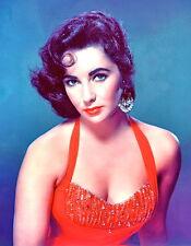 1950-1959 ELIZABETH TAYLOR color glamour portrait photo (Celebrities & Musicians