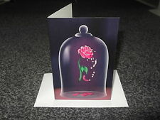 WALT DISNEYS BEAUTY AND THE BEAST ENCHANTED ROSE CARD *GREAT GIFT* UK SELLER