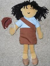 Girl Scouts Doll Brownie Asian Original Box Clothes Hat Vintage Plush Stuffed