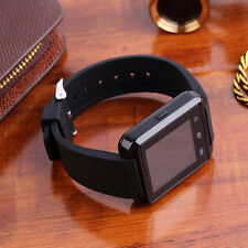 New Touch Screen Bluetooth Smart Watch Rubber Band Wristwatch For Android HG