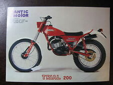 BROCHURE CATALOGUE 1982 MOTO FANTIC  TRIAL 200