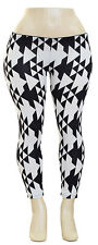 Geo triangle leggings Black/White Junior Plus Size 3x