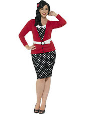 Smiffy's Women's Curves 50's PIn Up Polka Dot Adult Retro Plus Size Costume 2X