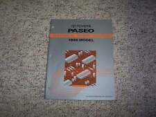 1996 Toyota Paseo Electrical Wiring Diagram Manual 1.5L 4Cyl