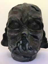 Darth Vader Artist ORIGINAL Wood Mask Helmet Sculpture Star Wars Artwork - RARE