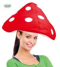 CAPPELLO FUNGO IN CINIGLIA Mushroom Rosso Adulto Carnevale Copricapo 115 41174