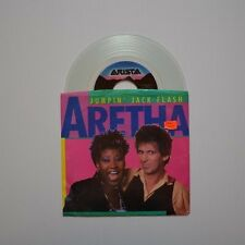 "ARETHA FRANKLIN & KEITH RICHARDS - Jumpin' jack flash - 1986 US 7"" CLEAR VINYL"