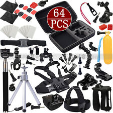 64in1 Go pro Dog Harness Head Monopod For GoPro Hero 4 3+ 3 2 Accessories  Kit