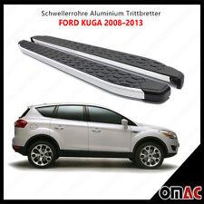 Schwellerrohre Aluminium Trittbretter für Ford Kuga 2008-2013 Blackline (183)