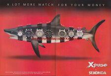 Sekonda Xpose Watch Range Shark 1999 Magazine Advert #3038