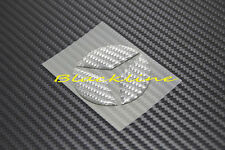 For Mercedes Gray Carbon Steering Wheel Emblem Decal C E S GLK SLK ML GL 63 AMG