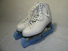 AMERICAN WHITE LEATHER FIGURE ICE SKATES / SIZE US 5 / EUR 37 WOMEN'S