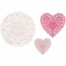 30 x Pink Doilies in 3 Designs Hen Party Bridal Shower Wedding Table Decoration