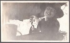 VINTAGE 1920'S SISSON MT SHASTA McCLOUD WEED CALIFORNIA YOUNG LADY IN CAR PHOTO