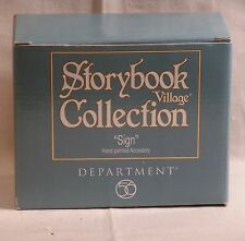 DEPT 56 STORYBOOK VILLAGE SIGN *NIB*