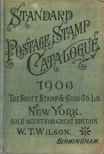 STANDARD STAMP CATALOGUE 1906 SCOTT STAMP & COIN CO LTD WILSON AGENT FOR GB 1906