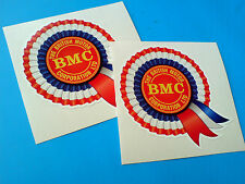 BMC Rosette Helmet Car Classic Retro Car Decals Stickers 2 off 80mm
