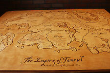 Hand Burned Map of Tamriel Coffee Table from Elder Scrolls - REDUCED!!!