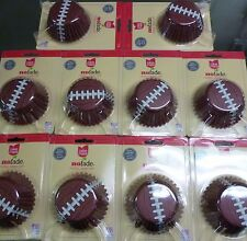 FOOTBALL THEMED FOIL CUPCAKE BAKING CUPS LOT OF 240 READY FOR SUPERBOWL PARTY