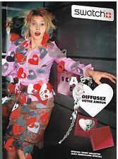Publicité Advertising 2006 La Montre Swatch Saint valentin