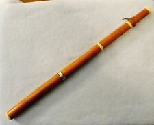 Rare Antique American Single Key Boxwood Flute, C. Peloubet, New York, c.1829-36