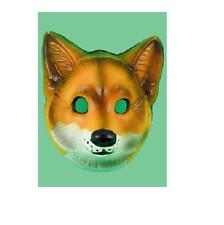 Plastic fox farm wild animal face mask Mr fox costume accessory