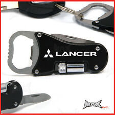 MITSUBISHI LANCER - Logo Keyring / Pocket Knife / LED Torch / Bottle Opener