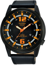 PX3081X1 NEW Pulsar Gents Solar Powered Leather Strap Watch