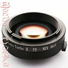 Zhongyi Focal Reducer Booster Turbo II Canon FD Lens to Sony E Adapter NEX A6000