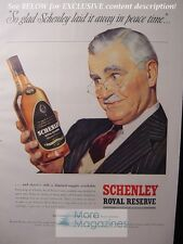 RARE 1943 Esquire Advertisement AD SCHENLEY Royal Reserve Blended Whiskey!