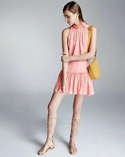 $395 Elizabeth and James Tigerlily Pink Silk Halter Blouson Carlita Dress 0 E392