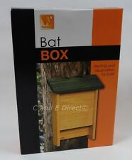 Westwoods Wooden Bat Box Nesting Nest Box Habitat Artificial Roosting Box NEW